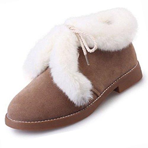 Casual botines PU Invierno Cuadra negro Ejército botas de caqui HSXZ botines Black Mujer talón de Zapatos nieve Otoño Botas Verde Confort redonda puntera xwInqTfvZn