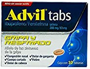 Advil Tabs , 10 Tabletas.