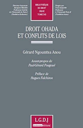 Droit Ohada et conflits de lois. Tome 543