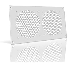 "AC Infinity White Ventilation Grille 12"", for PC Computer AV Electronic Cabinets, replacement grille for AIRPLATE S7/T7"