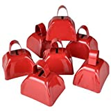 Metal Cowbell Noisemakers - School Cowbells Set 12 Pack - Play Kreative (Red)