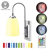 HONWELL Wall Lamp Battery Operated LED Wall Sconces Indoor Wireless Multi Color Wall Sconce Light Fixture for Room Lighting, Stick Lights for Kitchen Hallway Bathroom, 12 Colors, Remote Controlled