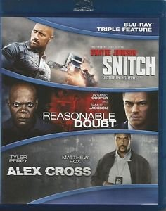 Snitch / Reasonable Doubt / Alex Cross - Blu-Ray 3 Pack