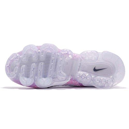 Nike Vrouwen Air Vapormax Flyknit 2 Nylon Loopschoenen Wit / Zwart-waterstof Blue