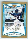 Andrew McCutchen baseball card (Pittsburgh Pirates All Star MVP) 2008 Topps Bowman #BDPP69 GOLD Rookie