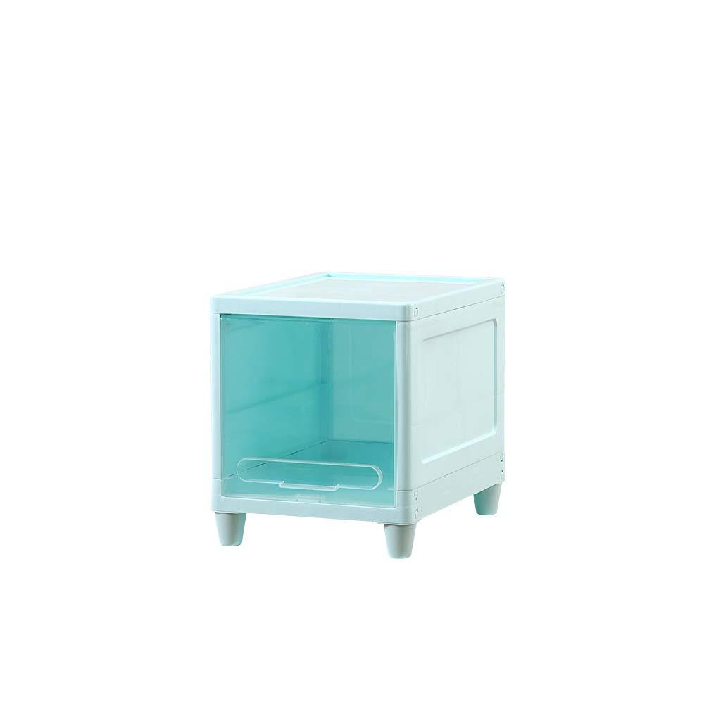 ホーム収納ブルーシンプル収納キャビネット狭いスリット浴室ロッカートイレロッカープラスチックキャビネット収納ボックス、透明カバー、ブルーカバー (Color : A, Size : 30X40X35cm) B07SJ49CY9 A 30X40X35cm