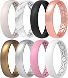 ThunderFit Women Breathable Eternity Pattern Silicone Wedding Ring Wedding Bands 4mm Width - 1.5mm Thickness - 12 rings / 8 Rings / 4 Rings / 1 Ring