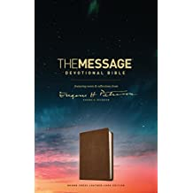 The Message Devotional Bible, Brown Cross: featuring notes & reflections from Eugene H. Peterson