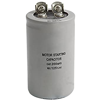 Toogoo r ac 125v 200uf 200mfd 2 terminals motor run start for Seika electric motor starting capacitor