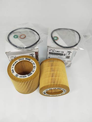 2Pack 11-42-7-953-129 Set Oil-Filter Element