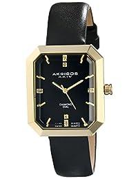 Akribos XXIV Women's AK749BK Lady Diamond Black Base Metal Watch