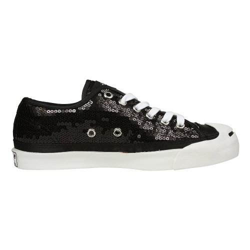 Womens Converse Jack Purcell Black Sequin Ox 110876 Heren 5 / Womens 6.5
