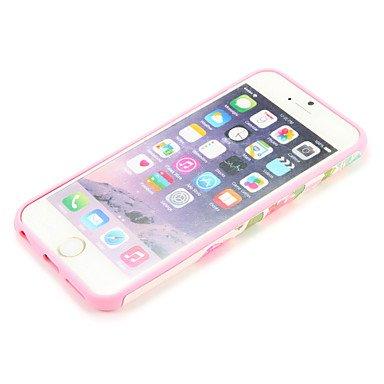 Fundas y estuches para teléfonos móviles, Para la caja de la contraportada del patrón de la cubierta del caso del iphone 7 7plus de Apple flor suave tpu 6s más 6 más 6s 6 ( Modelos Compatibles : IPhon IPhone 6s/6