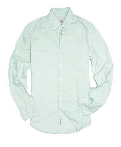 American Eagle Men's Seriously Soft Garment Dyed Oxford Shirt 9620 (X-Small, 313 (American Eagle Oxfords)