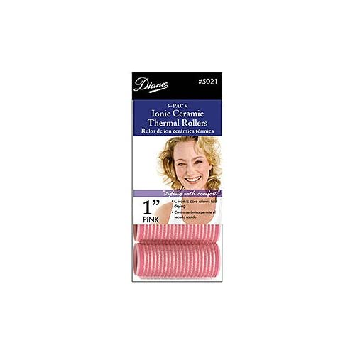 Diane Self-grip Ionic/ceramic Rollers * Pink * 1-inch Dia. hot sale
