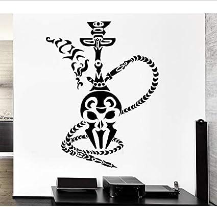shensc Shisha Pegatinas de Pared Cachimba Humo Fumar Café Árabe Vinilo Calcomanía Decoración del Hogar Salón Extraíble Arte Mural 42x55 cm