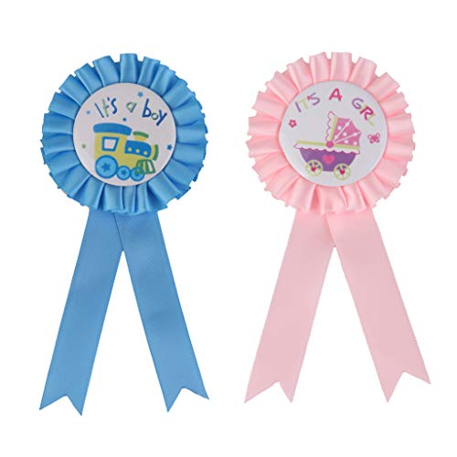Fityle 2pcs Set Badge Brooch Rosette Party Shower Decoration