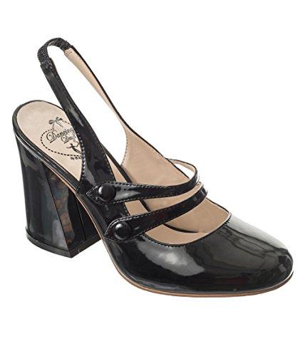 Unchained Prohibida Red Retro Heels la ropa 50s Shoes Shiny qqTE4H