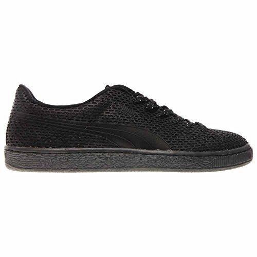 Puma Panier Tpu Kurim Hommes Bout Rond Synthétique Sneakers Noir Ombre Foncée / Noir / Blanc