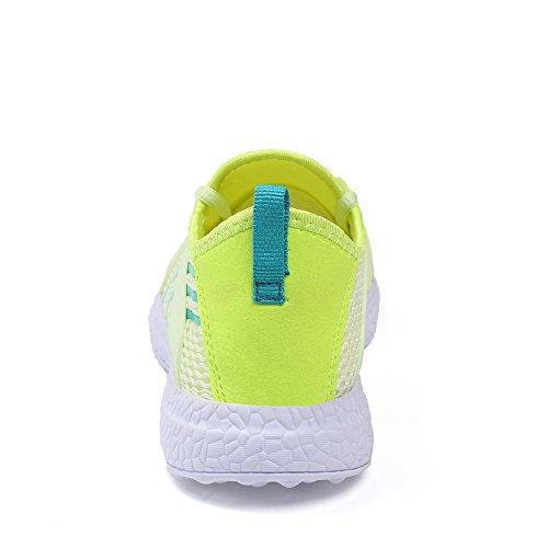 Casual Mesh Breathable Shoes Womens Green Lightweight Walking Feetmat Sneakers UCw5qfXA