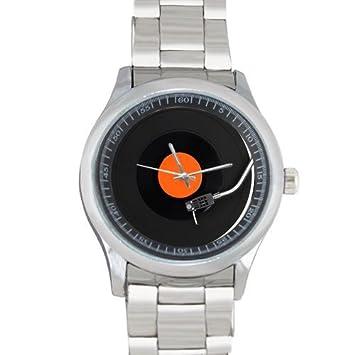 Amazon.com: Hombre y Boy s reloj Tocadiscos reloj de metal ...