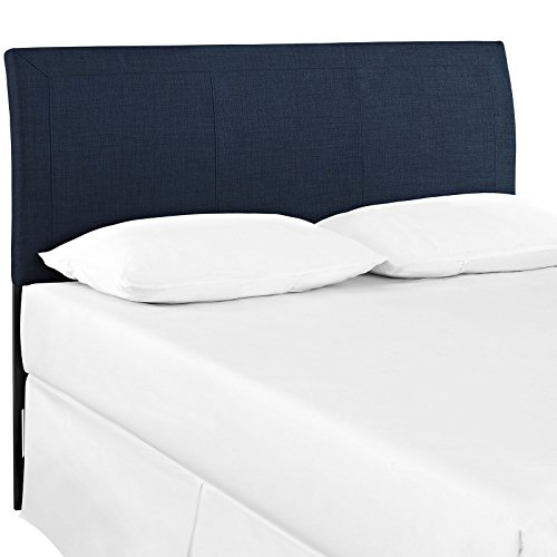 Modway Isabella Upholstered Fabric Headboard Queen Size In Navy by Modway
