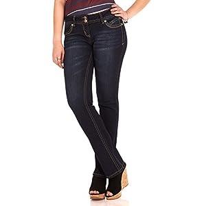 "WallFlower Women's Juniors Luscious Curvy Stretch Denim Bootcut Jeans (30""-32""-34"" Inseam) 17"
