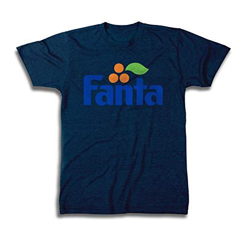 Fanta Mens Soft Drink Shirt - Do You Wanna Tee Soda Classic T-Shirt (Navy Heather, Large)]()