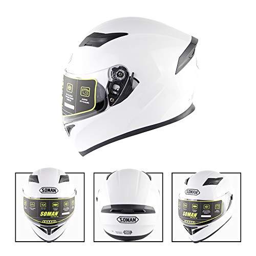 Warooms Adult Highway Riding Helmets ECE/DOT Certified Off Road Motorbike Crash Helmet Motocross Full Face Helm, for ATV/MX/BMX/Enduro/MTB,XL