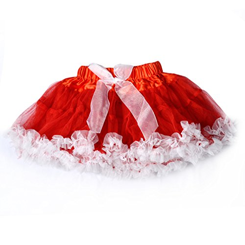 LCLHB Tulle Dance Tutu Skirt, 3-Layer Fluffy Ballerina For Baby Toddler Girls (5 Size Available For 4 Mon - 10yrs (Chiffon Gathered)
