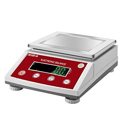 American Fristaden Lab Digital Precision Analytical Balance 10kg x 0.1g   Measures Grams, Ounces, Pounds and Carats   0.1g Accuracy   Scientific Scale for Laboratories, Jewelers and More by Fristaden Lab