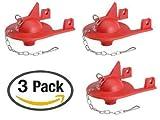 Korky 2012BP Shark Fin Flapper For Kohler Toilet Repair- 3 Pack