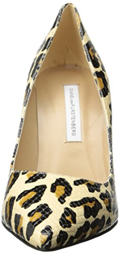 Diane Von Furstenberg Womens Bethany Dress Pump Natural Leopard Snake Print