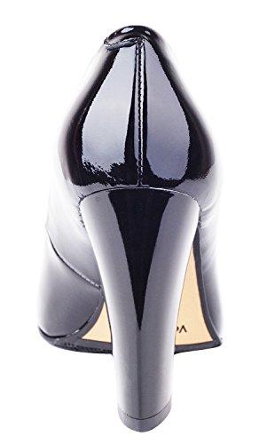 Donne Grosso Di Tacco Alto Vera Verocara Colore Punta In Sexy Pompa Scarpe Delle Classico Vestito Pelle Pontied CnqZ6vw