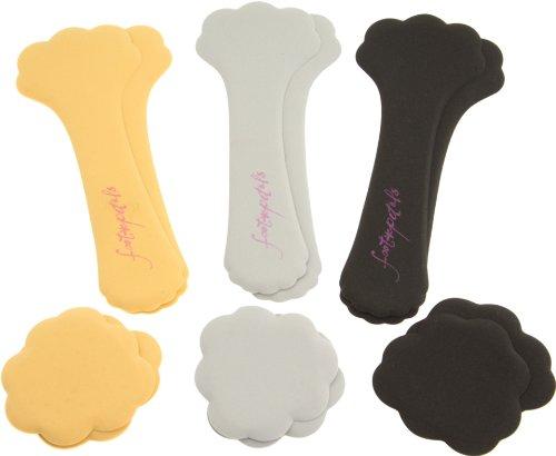 Foot Petals Tip Toes and Killer Kushionz 3-Pair Combo Pack,Multi,One - Kushionz Foot Killer