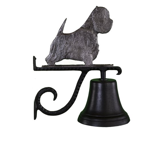 Montague Metal Products Cast Bell with Swedish Iron West Highland White Terrier (Sculpture Metal Terrier)