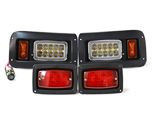 Club Car DS Golf Cart LED Headlight & LED Tail Light Kit - 1993 & Up ()