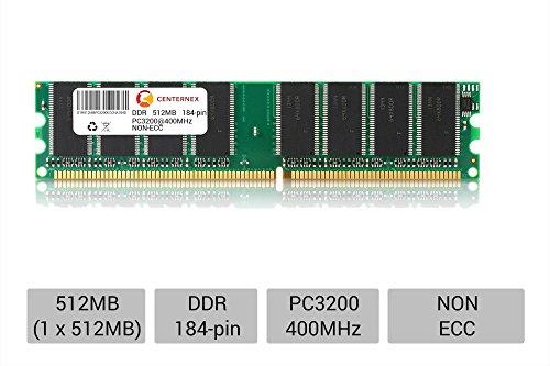 Pd1 Ram - 512MB DIMM FIC P4M-865PE Lite P4M-865PEro P4M-915G/PD1 PC3200 Ram Memory by CENTERNEX