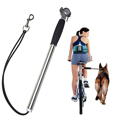 (V.JUST Hand Free Pets Leash Elastic Dog Bicycle Traction Belt Rope Bike Attachment Pet Walk Run Jogging Distance)