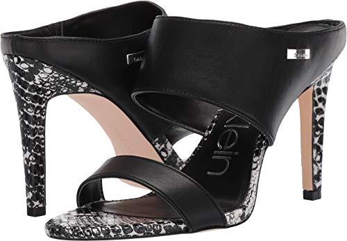 Calvin Klein Women's Shayna Black/Black/White Nappa 8.5 M US
