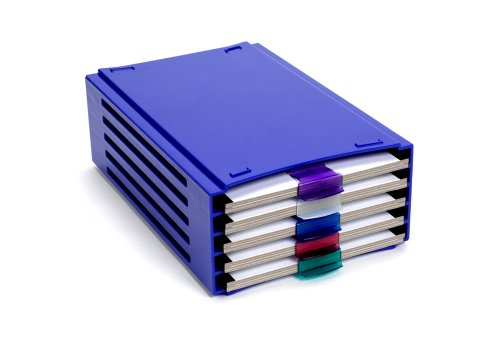 Incl Clasp - 20 Place Slide Folder Rack, Stackable, holds 5 slide folders, incl. 5 ABS folder clasps