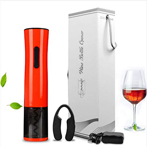 (CDZJP Wine Opener,All-in-One Corkscrew, Stainless Visibility Electric Bottle Opener,USB Charger,Gift Set for Wine Lovers)