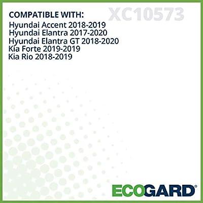 ECOGARD XC10573 Premium Cabin Air Filter Fits Elantra 2020-2020, Accent 2020-2020, Elantra GT 2020-2020 | Kia Rio 2020-2020, Forte 2020: Automotive