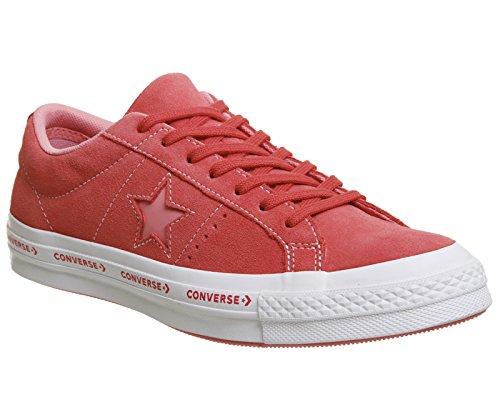 Converse Scarpe Da Ginnastica Unisex Stile Di Vita Unisex Ox Star Bue Nero Rosa (paradise Pink / Geranium Pink 637)