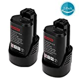 2PCS 2500mAh Li-ion Rechargeable Bosch 12v/ 10.8V Battery Replacement for Bosch BAT411 BAT411A BAT412 BAT413 PS30 2 607 336 864