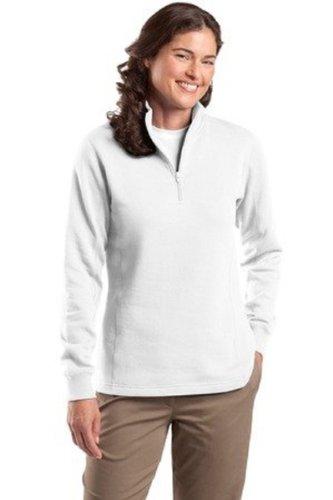 Sport-Tek Women's 1/4 Zip Sweatshirt M White ()