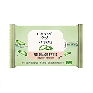 LAKMÉ 9to5 Natural Aloe Cleansing Wipes, 141 g