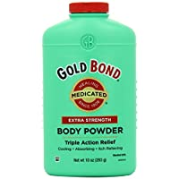 Gold Bond Extra Strength Triple Action Relief Medicated Body Powder, 10 0unce, Pack of 2