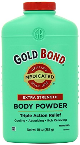 Gold Bond Extra Strength Triple Action Relief Medicated Body Powder, 10 0unce, Pack of 2 ()