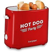 BEPER 90.488 Appareil à Hot Dog, 750 W, Rouge